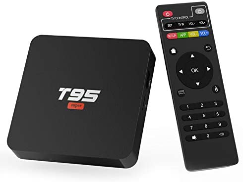 Android 10.0 TV Box, TUREWELL T95 Super TV Box Allwinner H3 Quad-Core 2GB RAM 16GB ROM Media Player Support 2.4GHz WiFi, 3-D 4K H.265 Smart Android TV Box