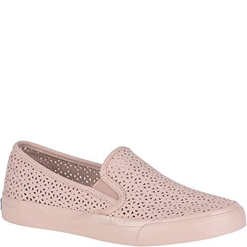 (SPERRY Women's Seaside Nautical Perf Sneaker Rose 9.5 Medium US)