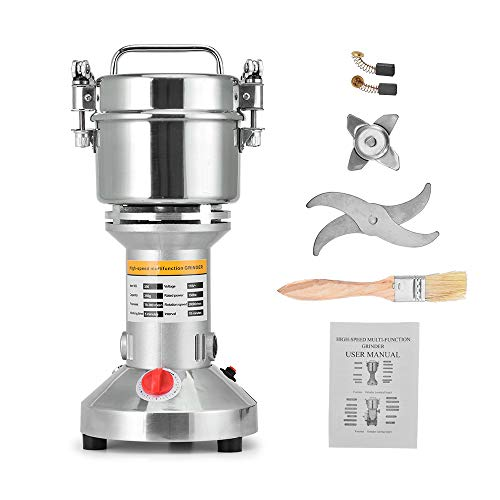 Giraffe-X Electric 350g Herb Grain Spice Grinder Cereal Mill Grinder Flour Powder Machine,Portable High Speed ()
