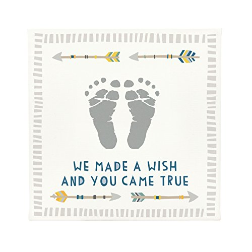 Pearhead Babyprints Wall Art with Paint, White, (Footprints Canvas)