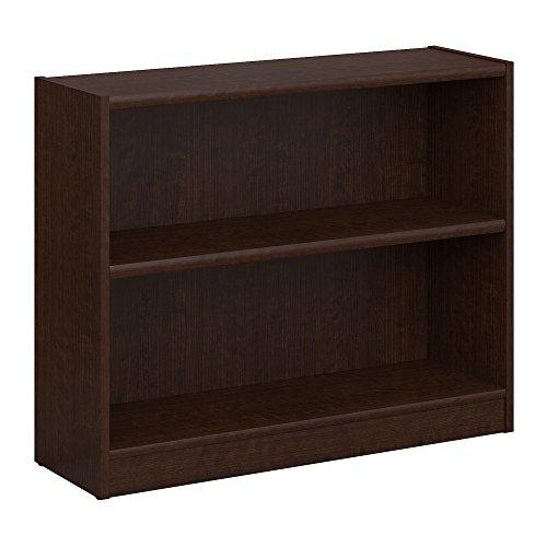 Bush Furniture Universal 2 Shelf Bookcase in Mocha Cherry - Bush Contemporary Bookcase