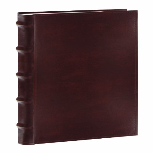 Pioneer Photo Albums CLB-246/BN 200-Pocket European Bonded Leather Photo Album for 4 by 6-Inch Prints, Brown by Pioneer Photo Albums
