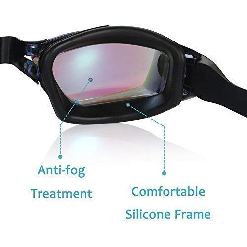 Large Product Image of Aegend Swim Goggles, Swimming Goggles No Leaking Anti Fog UV Protection Triathlon Swim Goggles with Free Protection Case for Adult Men Women Youth Kids Child, Multiple Choice