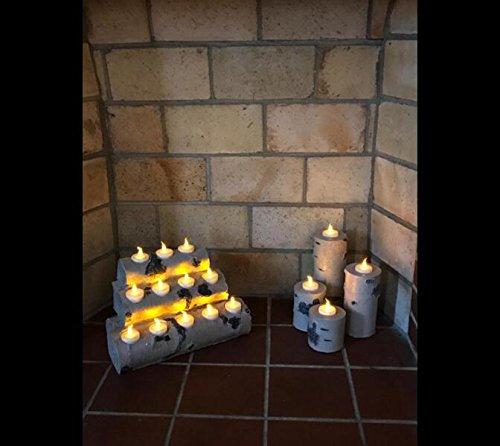 Topstone Flammenlose Teelichter mit Timer und Fernbedienung, LED-Teelichter, elektrische Fake Kerze mit hell und flackernd gelb Glühbirne, 12Stück, Best für Partys, Home Decor und Festivals Feiern