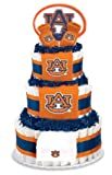 Collegiate Diaper Cakes - Baby Gifts for the Sports Fan--College Themed Diaper Cakes Featuring Your School Logo (Premium, Auburn)