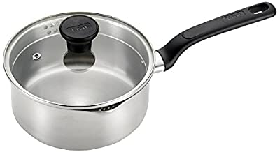 T-fal C91124 Excite Stainless Steel Covered Sauce Pan Cookware