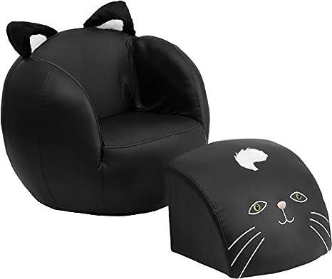 Amazon.com: Silla y reposapiés con diseño de oso para niños ...