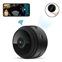 Mini Spy Camera Wireless Hidden Tiny Nanny Cam, ieGeek 1080P HD Wi-Fi Small Secret Security Cameras with Built-in Battery Motion Detection&Alerts/Sound &Video Recording/Invisible LEDs Night Vision