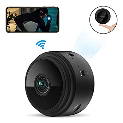 Mini Spy Camera Wireless Hidden Tiny Nanny Cam, ieGeek 1080P HD Wi-Fi Small Secret Security Cameras with Built-in Battery Motion Detection&Alerts/Sound &Video Recording/Invisible LEDs Night Vision by ieGeek