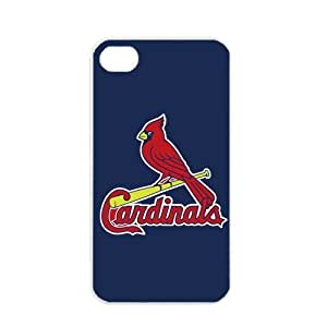 MLB Major League Baseball St. Louis Cardinals Apple iPhone 4 / 4s TPU Soft Black or White case (White)