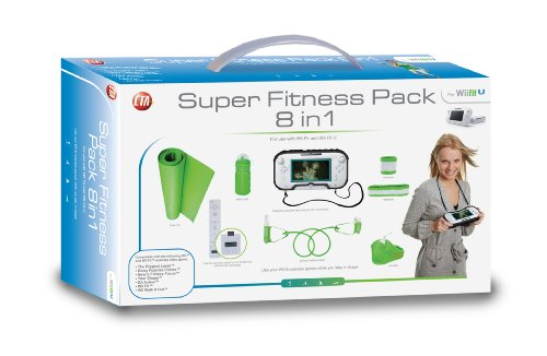 CTA Digital 8 in 1 Exercise Kit for Wii Fit U & Wii fit (for all Exercise Games) (includes Protective Case With Neck Strap for Wii U )