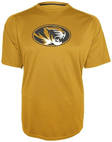Champion NCAA Missouri Tigers Training 2 Game Day B.M.O.C. Short Sleeve Crew Neck Raglan Tee, Small, Nugget Gold