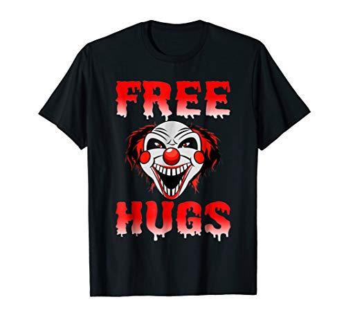 Evil Killer Clown Free Hugs Scary Halloween Costume T-Shirt