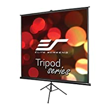 Elite Screens Tripod, 99-inch, Adjustable Multi Aspect Ratio Portable Pull Up Projection Projector Screen, T99UWS1