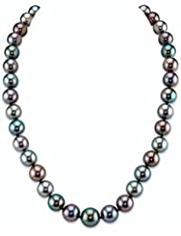"14K Gold 9-11mm Tahitian South Sea Multicolor Cultured Pearl Necklace - AAA Quality, 20"" Length"