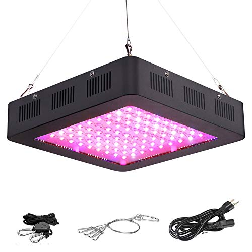 VIHIMAI 1000W LED Grow Light Full Spectrum, 3 Chips 4 Fans Daisy Chain Optical Lens-Series Growing...
