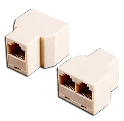 Amazon.com: HK RJ45 3 Way Network Cable Splitter Extender Plug ...