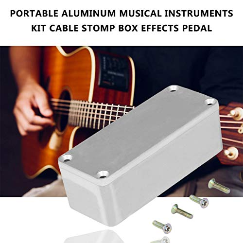 Portable Aluminum Musical Instruments Kit Cable Stomp Box Effects Pedal Enclosure For Guitar Effect Style Cases Holder (Best Guitar Tuner App Android 2019)