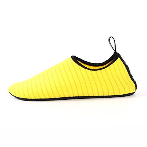 Everybid Water Zapatos Aqua Zapatos Hombres Mujeres Descalzos Quick-dry Para Nadar, Caminar, Yoga, Lago, Playa Amarilla