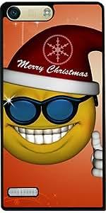 Funda para Huawei AscendP7 Mini - Smiley Navidad Divertida