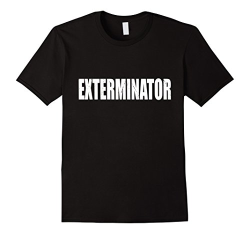 Exterminator Costumes - Mens Exterminator T Shirt Halloween Costume Funny Cute Distressed 2XL Black