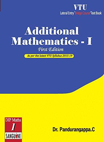 Additional Mathematics - 1: As per VTU First, C