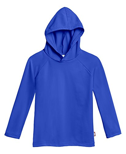 City Threads Baby Boys' and Girls' Hooded Long Sleeve Rashguard For Sun Protection Beach Pool Swimming Tee, Royal, 18/24m (Swimming Pool Royal)