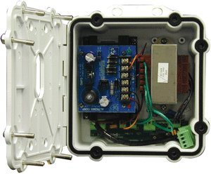 Videolarm Pole - Rugged Cast Aluminum Power Box; PB24 with Battery Back up, Pole Mount Clips