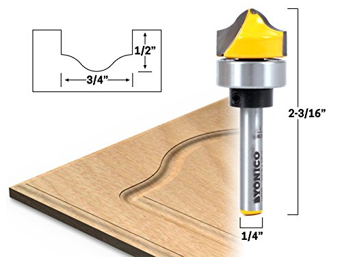 - Yonico 14978q 3/4-Inch Faux Panel Ogee Groove Template Router Bit 1/4-Inch Shank