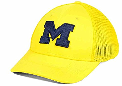 Nike Legacy 91 Dri Fit Michigan Wolverines Mesh Swoosh Flex Fit Cap (Swoosh Flex Cap)