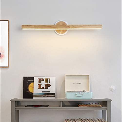 -badezimmerlampe Spiegelleuchte - Nordic Simple LED Spiegelleuchte (Wood Art Acrylic) Badezimmer Schminktisch Schreibtisch Garderobe Hotelwaschbecken Badleuchte