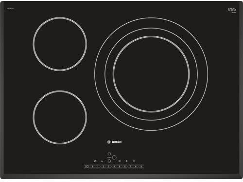 Bosch Serie 8 PKD751FB1E Integrado Cerámico Negro, Acero inoxidable hobs - Placa (Integrado, Cerámico, Vidrio y cerámica, Negro, Acero inoxidable, 2 ...