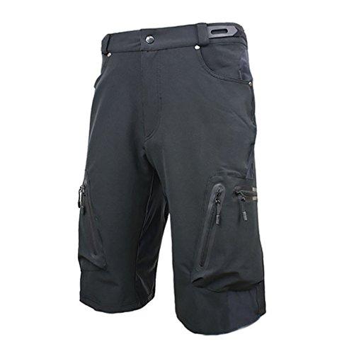 Blike Mes's MTB Cycling Climbing Shorts Loose Fit Shorts Black L