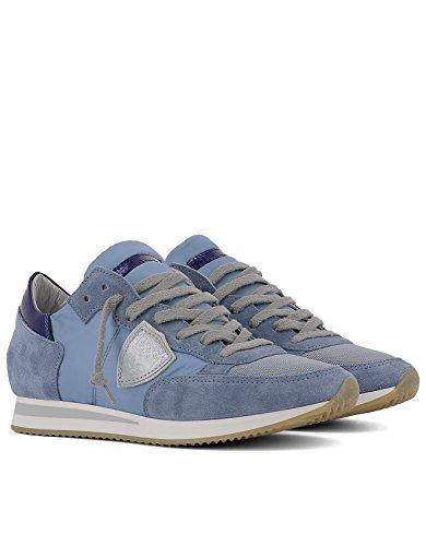 Philippe Model Sneakers Donna TRLDWX60O Tessuto Azzurro