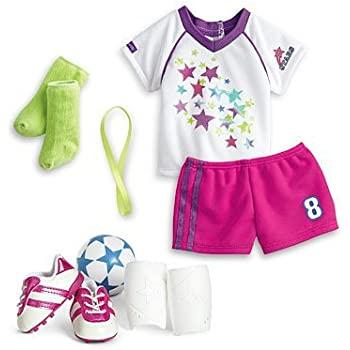 Amazon Com American Girl Soccer Team Outfit For Dolls