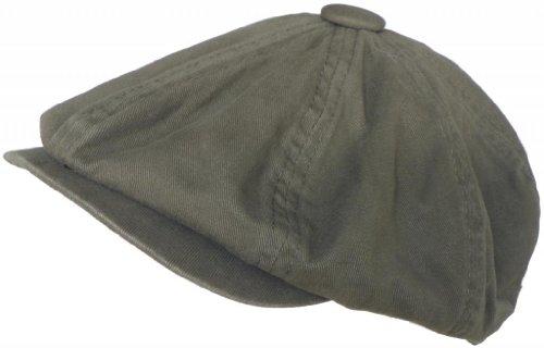 Broner 8/4 Apple Jack Cap Cotton Newsboy Hat (Olive, Medium) - Apple Cotton Cap