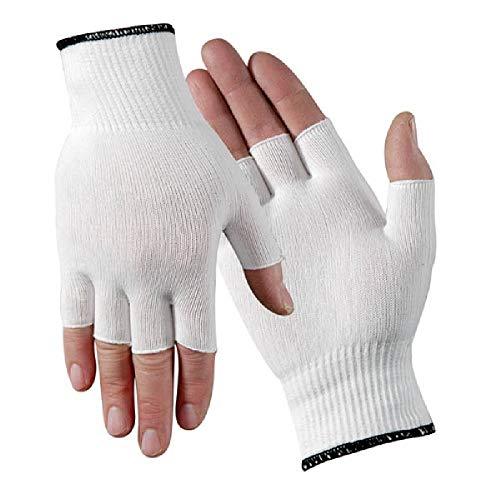 All-Day Reusable Protective Half-Finger Nylon Glove Liner - 1 Pair (Women
