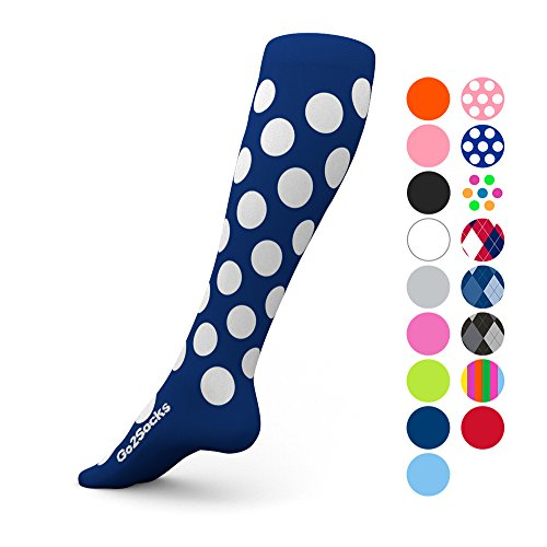 Go2Socks Compression Socks for Men Women Nurses Runners 20-30 mmHg (high) - Medical Stocking Maternity Travel - Best Performance Recovery Circulation Stamina