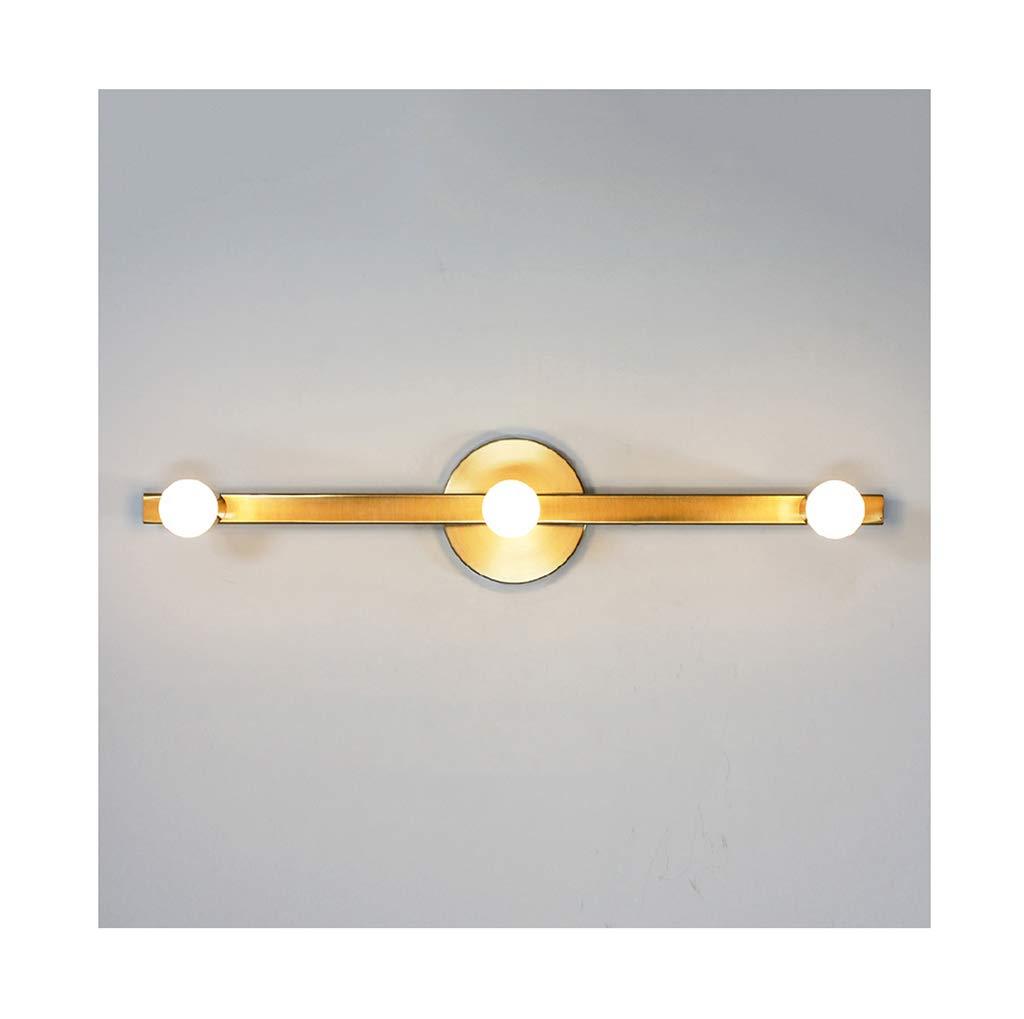 badezimmerlampe Spiegel Frontleuchte LED Schmiedeeisen gebürstet Kupfer Bad Wandlampe-2 3 5 Köpfe Schminklicht (Größe   60cm)