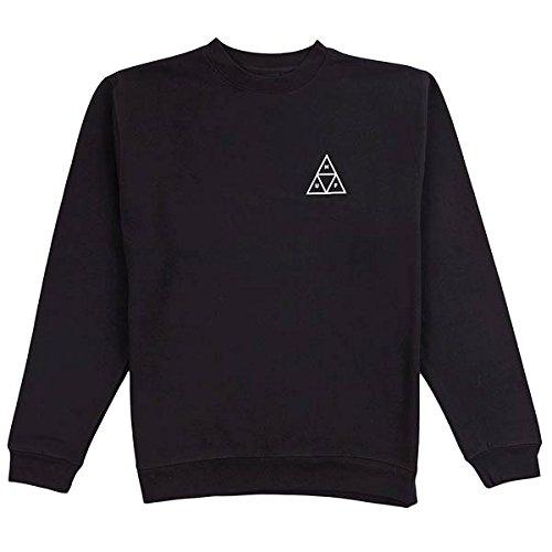 HUF Men's Triple Triangle Crew, Black,