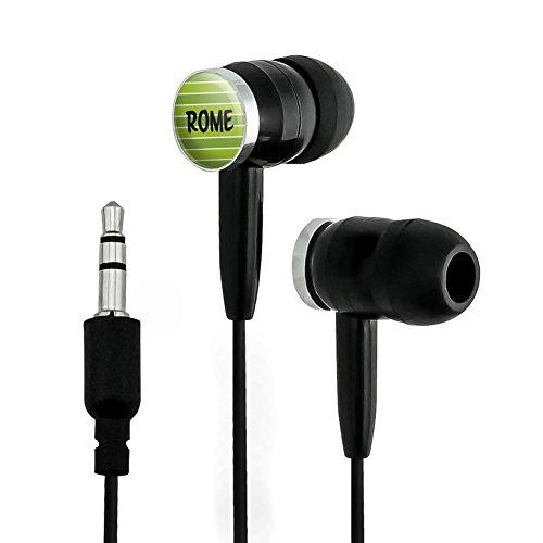 Rome Novelty In-Ear Earbud Headphones - Black