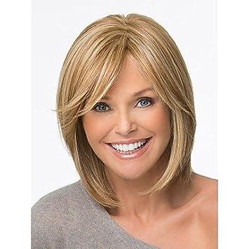 GSP-cortes de pelo bob pelucas sintéticas cortas pelucas rubias rectas para mujeres pelucas llenas