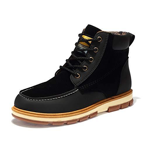 Sole EU Fashion Jincosua Boots Dimensione stringati 39 Stivaletti Soft Colore da uomo Nero Casual antiscivolo Inverno XzXF6qw