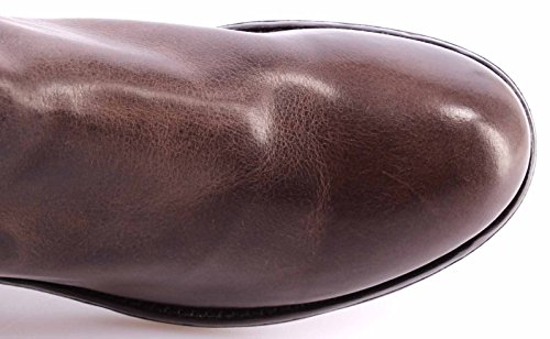 Chaussures Homme Bottines MOMA 55601-A5 Carmen Taupe Cuir Brun Vintage Italy New