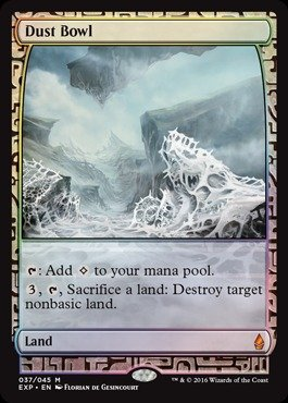 Magic  The Gathering   Dust Bowl   Expedition Lands   Foil