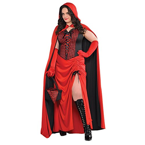 Amscan Enchantress Red Riding Hood Halloween Costume for Women, Plus Size, with Included Accessories