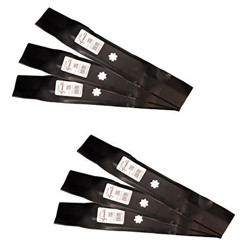 Rotary (6) 11595 Mower Blades Replace John Deere AM141035, AM137757, 48