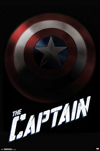 Trends International 24x36 America-Captain Premium Wall Post