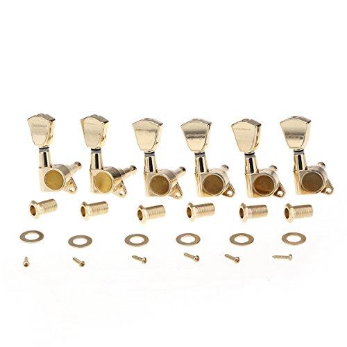 Musiclily Pro 6 en Línea Cadenas de Máquina Selladas Clavijas de Afinación Llaves Afinadores de Mano Derecha Fender...