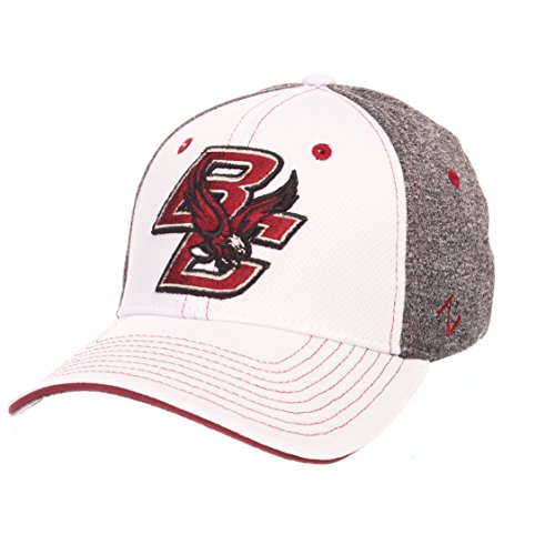 Zephyr NCAA Boston College Eagles Adult Men Equinox Hat, Medium/Large, White/Heather (Ncaa College Hats)